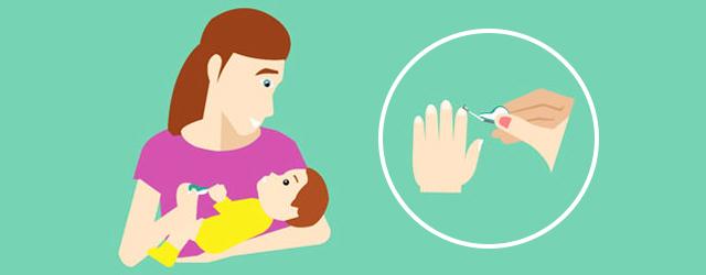 چگونه ناخن نوزاد را کوتاه کنیم